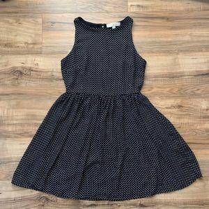 LOFT Fit & Flare Polka Dot Dress Size 2
